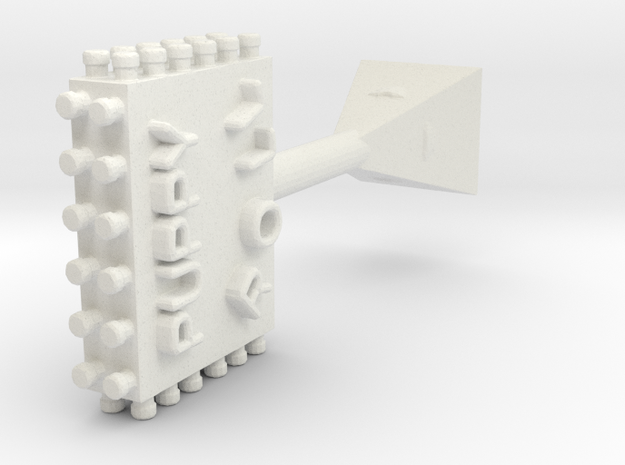Puppyrollsign in White Natural Versatile Plastic