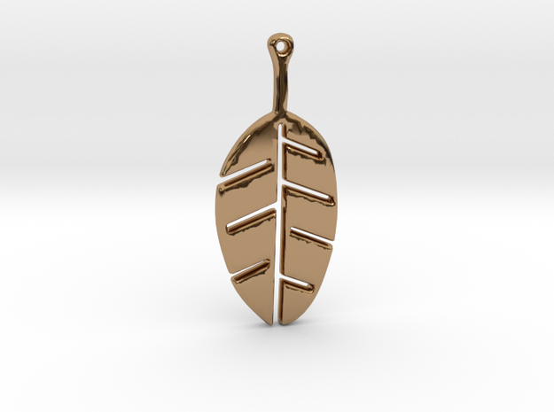 Leaf Pendant in Polished Brass
