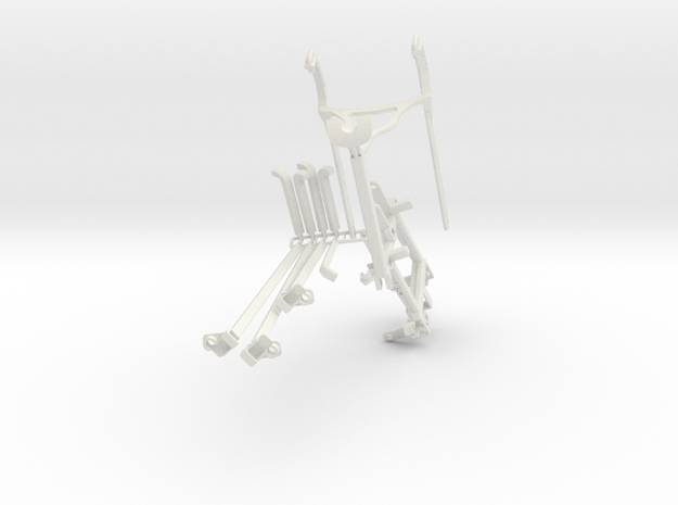 Controller mount for Xbox 360 & Bike Mount in White Natural Versatile Plastic