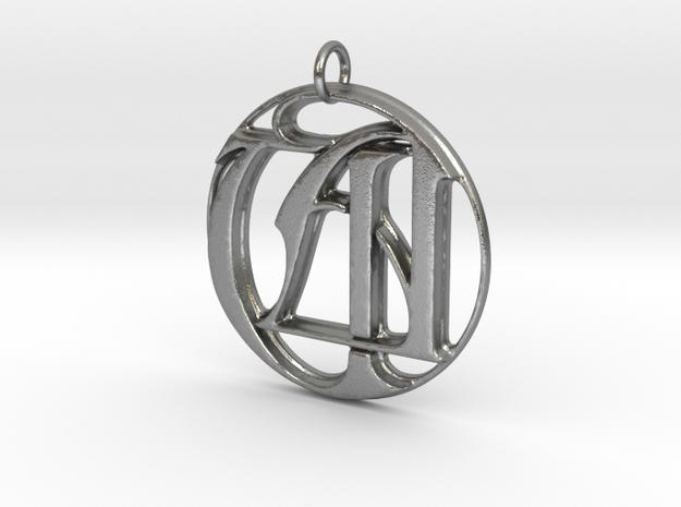 Monogramed Initials UA Pendant