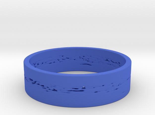 Neptune Ring in Blue Processed Versatile Plastic: 1.5 / 40.5