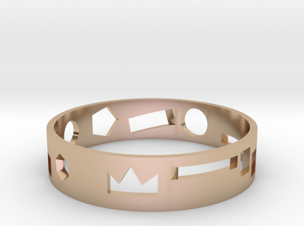 Geometric ring in 14k Rose Gold Plated Brass: Medium
