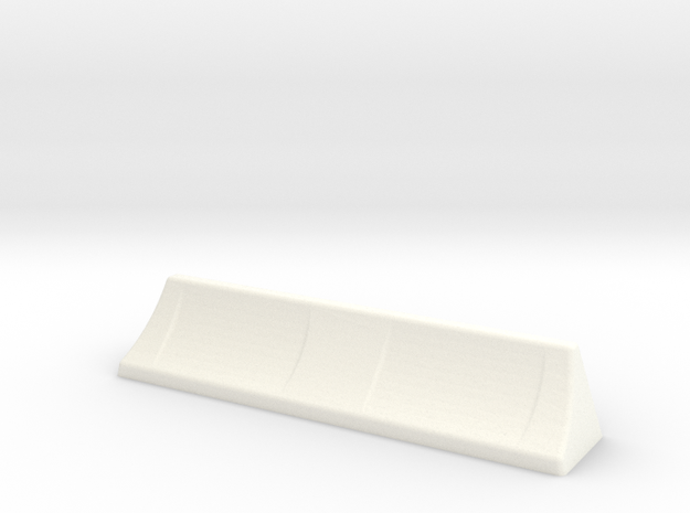 Whale Tail air deflector in White Processed Versatile Plastic