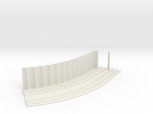 MARKET SUBWAY SLEAVE HO SCALE 45 CURVE PT2 in White Strong & Flexible