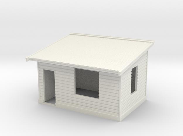 7mm Std Platform Level Signal Box - LH Door in White Strong & Flexible