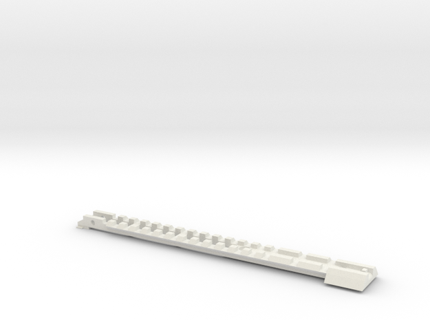 Gladius V1 Top (part 1 of 5) in White Strong & Flexible