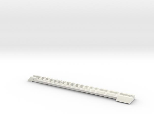Gladius V1 Top (part 1 of 5) in White Natural Versatile Plastic