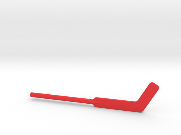 Hockey Goalie Stick for ModiBot in Red Processed Versatile Plastic