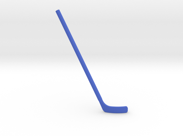 Hockey Stick for ModiBot: Bent (Right-handed) in Blue Strong & Flexible Polished