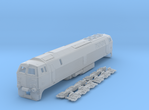 N Scale MZ III locomotive ex-DSB in Smooth Fine Detail Plastic