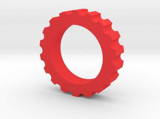 Spline Nut Fidget Spinner in Red Processed Versatile Plastic