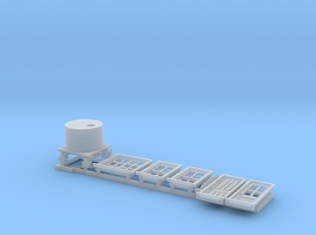 N Scale NSWR Platform Signal Box Detail Parts RH D in Smoothest Fine Detail Plastic