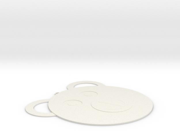Bear necklce in White Strong & Flexible