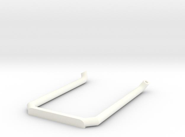 Pipe-4mm Uten Potte in White Processed Versatile Plastic