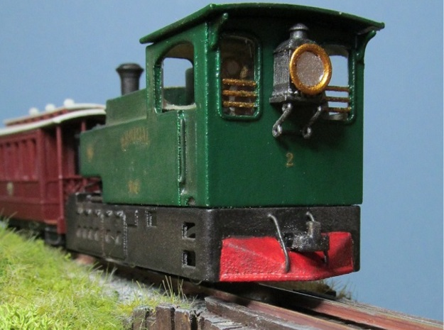 00n3 Clogher Valley Tram Engine in White Strong & Flexible Polished