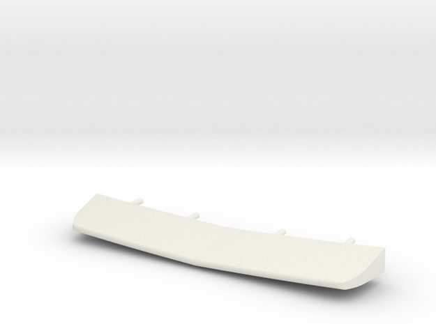 1/72 scale Burke Stern Flap in White Natural Versatile Plastic