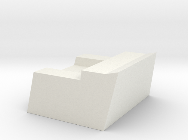 1/72 Burke CWIS Rear Chair in White Natural Versatile Plastic