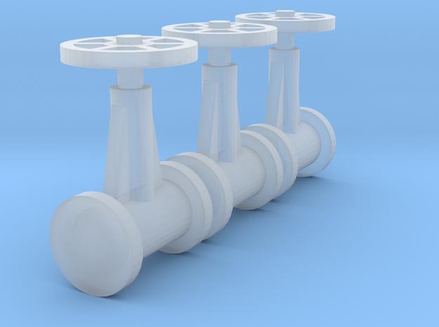 "'N Scale' - (3) 20"" Diameter Valves in Smooth Fine Detail Plastic"