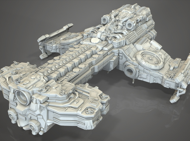 SC2 Terrain Battlecruiser  in White Strong & Flexible