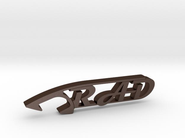 RAD BEER BOTTLE OPENER in Matte Bronze Steel