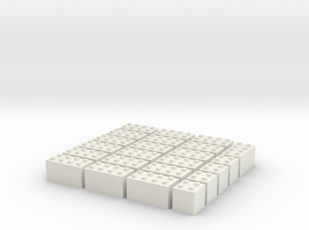 1/87 HO Bausteine fuer Schuettgutboxen, 19+4 in White Strong & Flexible