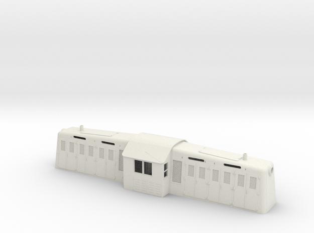 1/64 S-scale Whitcomb 65 Ton Loco Shell in White Natural Versatile Plastic
