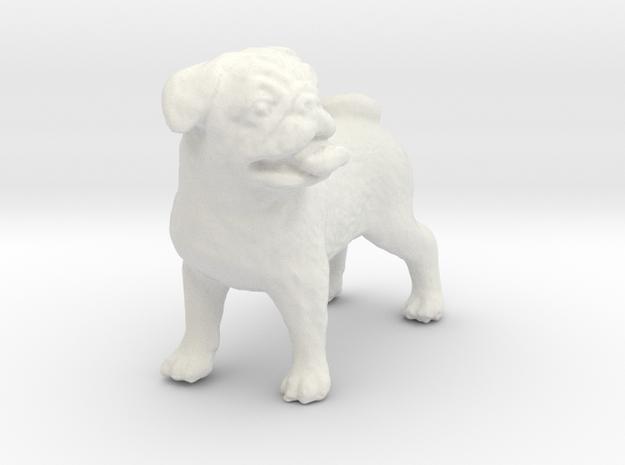 1/12 Bulldog in White Strong & Flexible