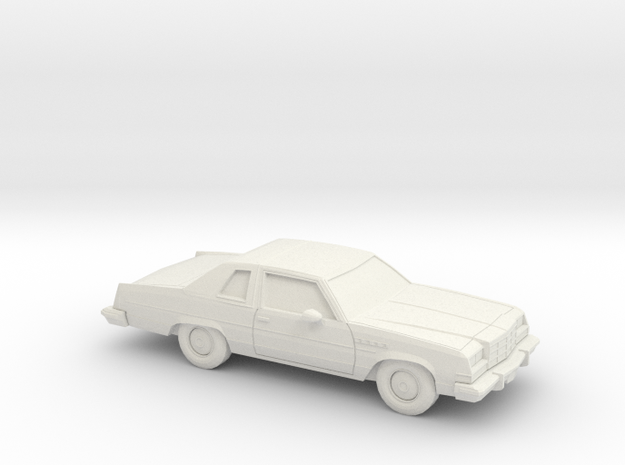 1/64 1976-79 Buick Electra Coupe in White Natural Versatile Plastic