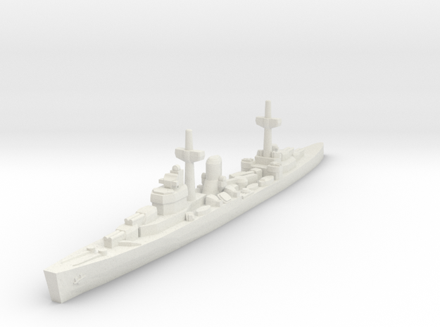 Leander class (WWII) 1/2400 in White Natural Versatile Plastic