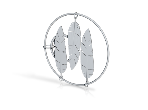 Feather in White Strong & Flexible: Small