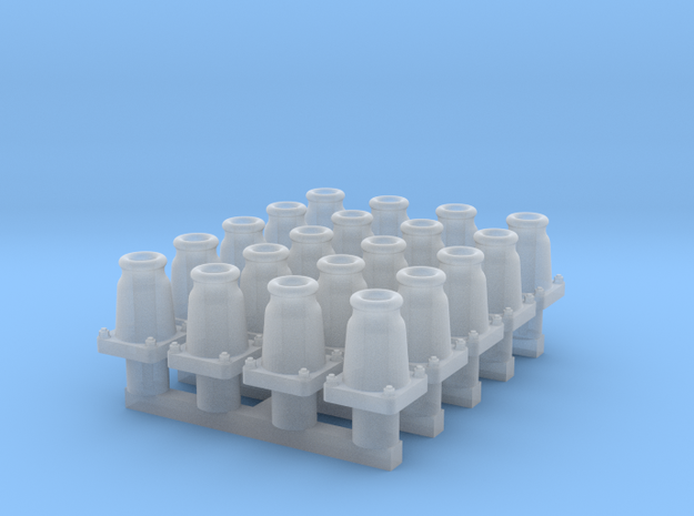 RCH self-contained buffers for wagons, x20 in Smooth Fine Detail Plastic