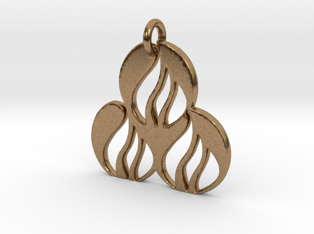 Fire Pendant in Natural Brass