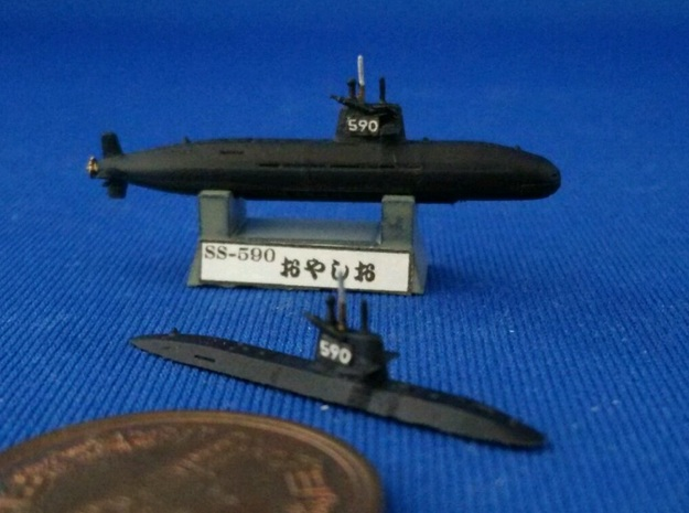1/2000 JS Oyashio-class submarine in Smooth Fine Detail Plastic
