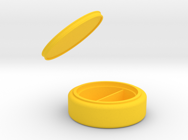 珠寶盒.stl in Yellow Strong & Flexible Polished: Medium