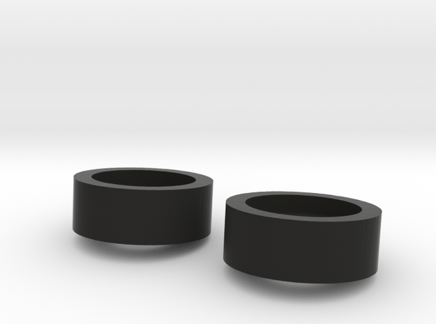 1/10 SCALE INNER DUALLY WASHER MOUNTS in Black Natural Versatile Plastic: 1:10