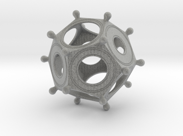 Roman Dodecahedron in Metallic Plastic: Small