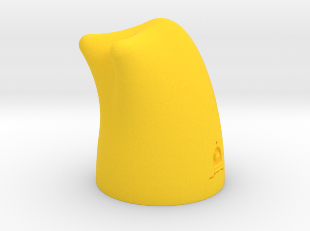 MILOSAURUS Chess Shatranj Bishop (pil) in Yellow Processed Versatile Plastic