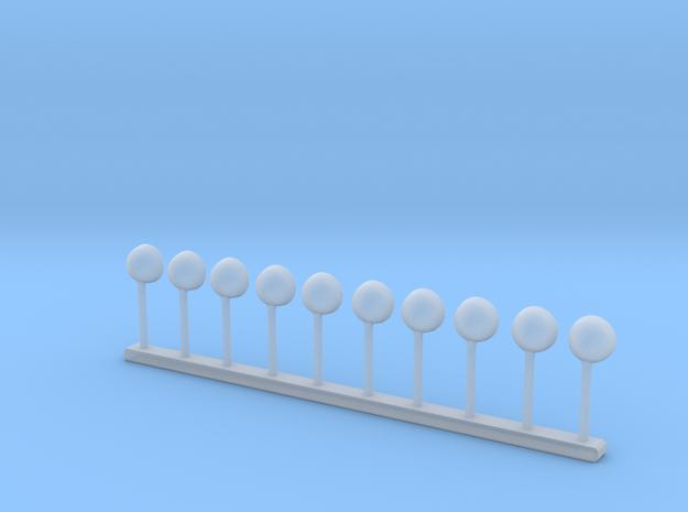 Arbeitsscheinwerfer - 10 Stück 1/87 in Smoothest Fine Detail Plastic