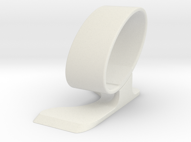 Wristwatch stand - side A  in White Strong & Flexible