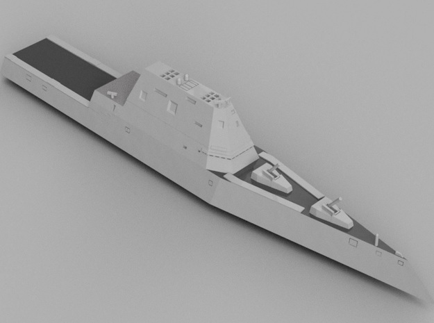 1/1800 USS Zumwalt in Smooth Fine Detail Plastic