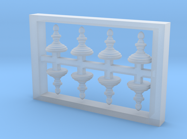 HO Scale Finial Style A in Frosted Extreme Detail