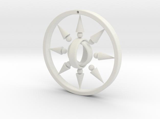 Light earrings in White Natural Versatile Plastic