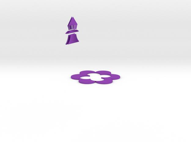 花.stl in Purple Processed Versatile Plastic