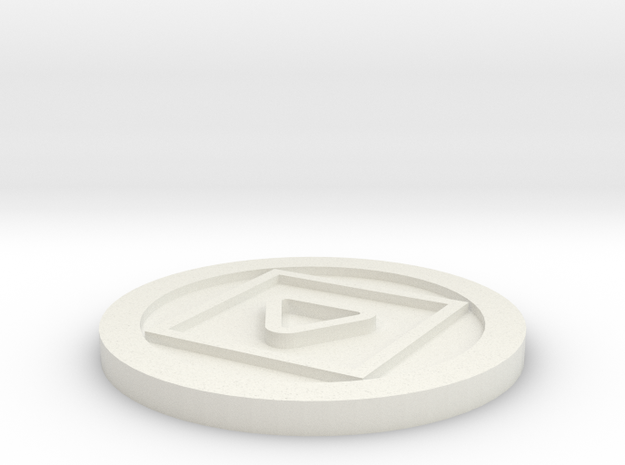 Simple cooling coasters in White Strong & Flexible