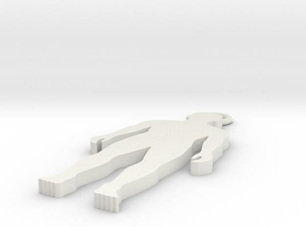 人.stl in White Strong & Flexible: Medium