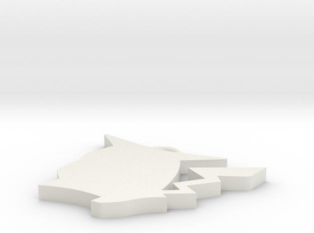 皮.stl in White Strong & Flexible: Medium