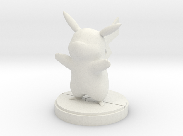 Pikachu figure in White Natural Versatile Plastic