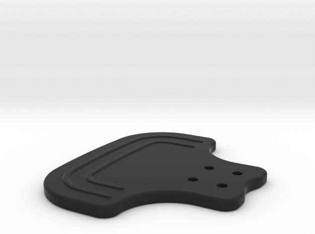 F1 Style Paddle in Black Natural Versatile Plastic