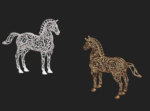 New-Horse-3 3d printed