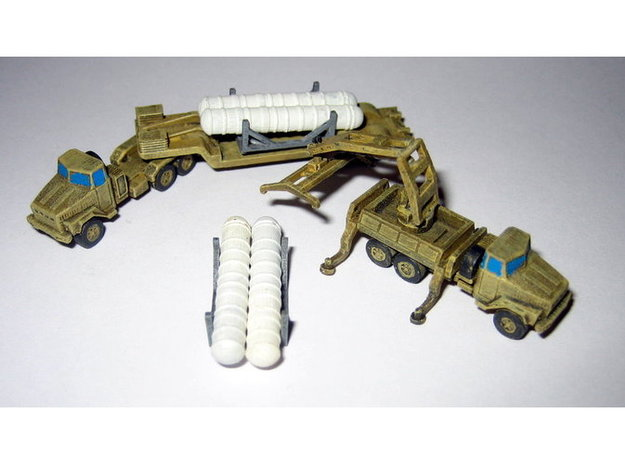 SA10 Grumble Kraz 260 Reloading Group 1/200 3d printed 1/285 Models shown